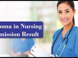 Diploma in Nursing Admission Result