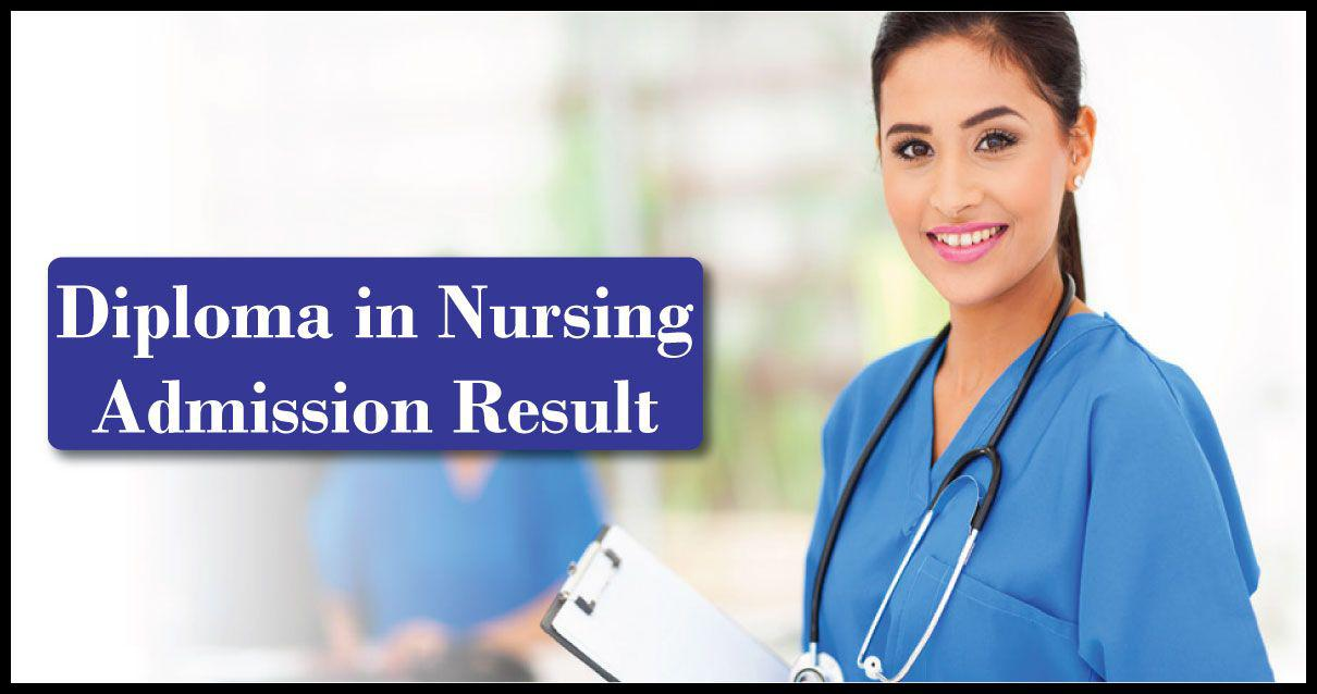 Diploma in Nursing Admission Result