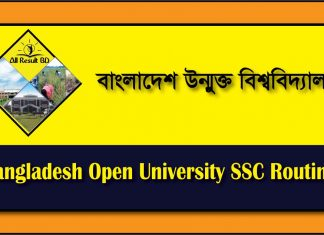 Bangladesh Open University SSC Routine