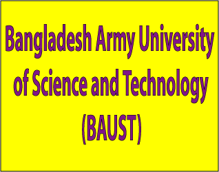 Bangladesh Army University of Science and Technology (BAUST) Admission Result Notice 2015