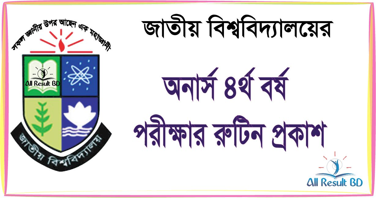 National University Honours 4th Year Exam Routine 2016 Form Fill-Up Notice