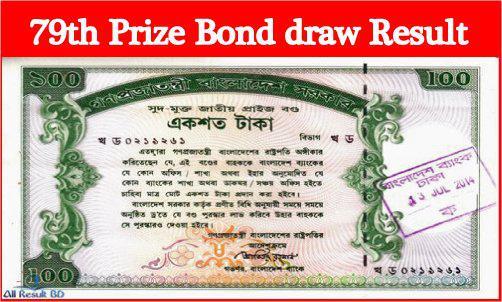79th Prize Bond draw Result