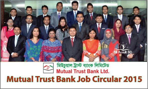 Mutual Trust Bank Management Trainee Job Circular 2015