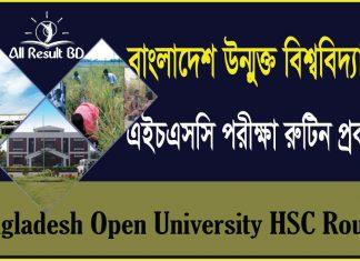 bangladesh open university hsc exam routine