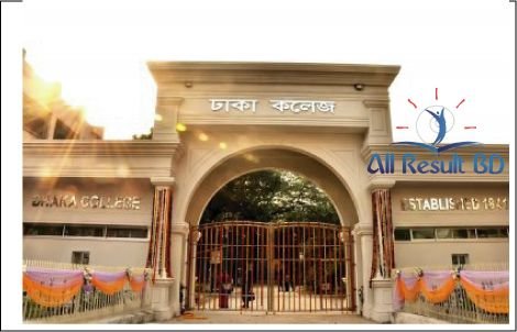 Dhaka College HSC Admission Notice Result 2016 Download