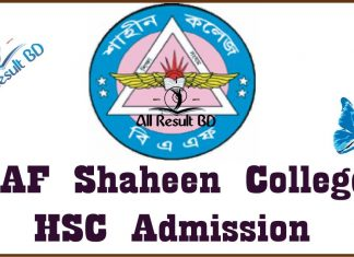 BAF Shaheen College HSC admission