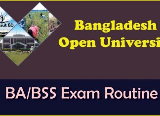 Open University BA/BSS Exam Routine