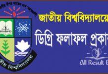 National University Degree Pass Exam Result