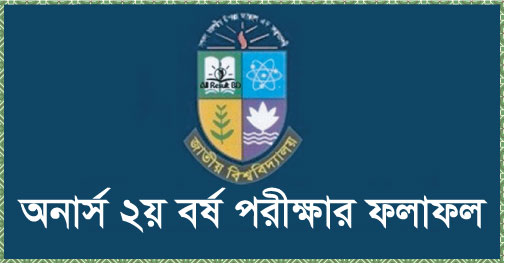 National University Honours 2nd Year Result 2016
