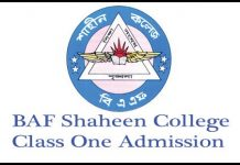 BAF Shaheen College Class One