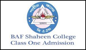 BAF Shaheen College Class One