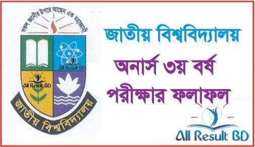 National University Honours 3rd Year Result 2016 NU.EDU.BD
