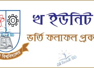 Jagannath University B Unit Admission Result