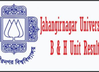 Jahangirnagar University B and H Unit Result