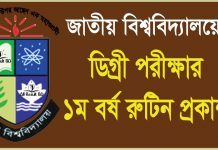 National University National University Degree 1st Year Exam Routine