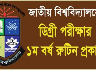 National University National University Degree 1st Year Exam Routine