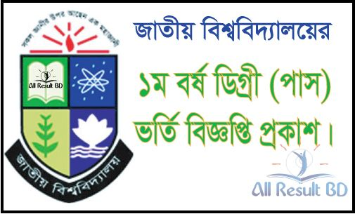 National University Degree Pass Admission Notice 2016-17