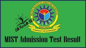 MIST Admission Test Result