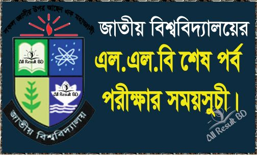 National University LLB Final Exam Routine 2015