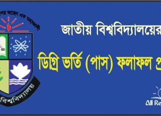 National University Degree Pass Admission Result
