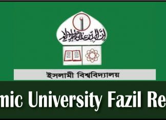 Islamic University Kushtia Fazil Result