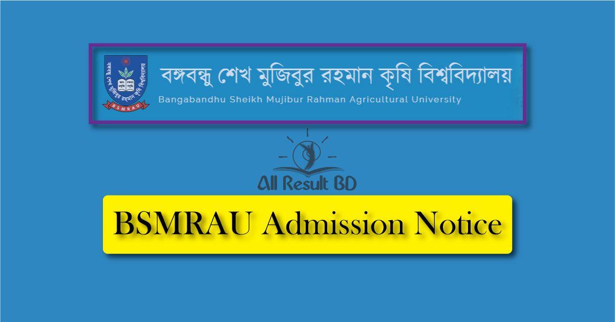 BSMRAU Admission