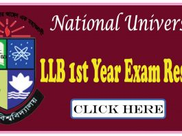 nu LLB 1st Year Exam Result