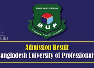 BUP Admision Result