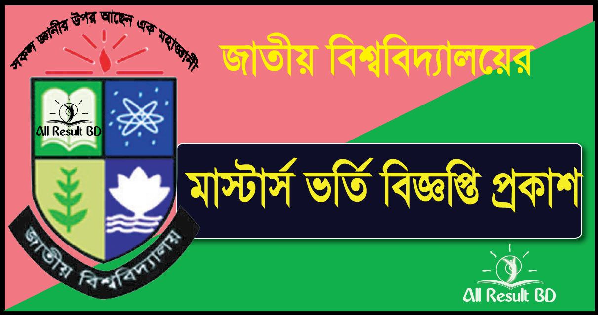 National University Masters Admission Notice 2016-17 Apply Online