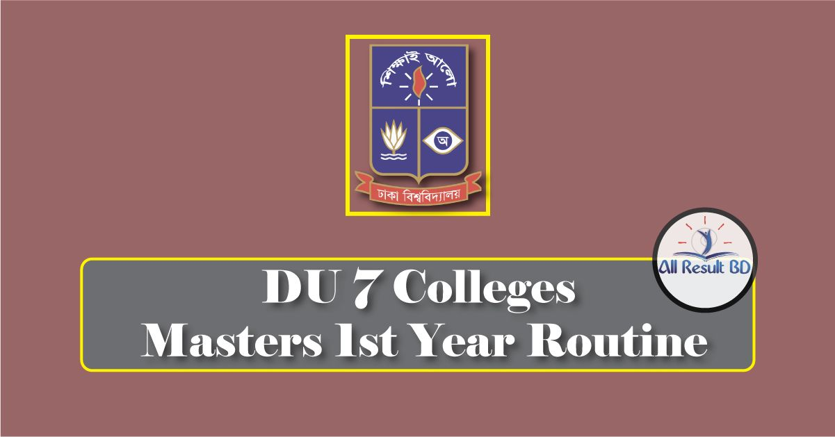 DU 7 Colleges Masters 1st Year Routine