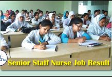 Senior Staff Nurse Job Exam Result