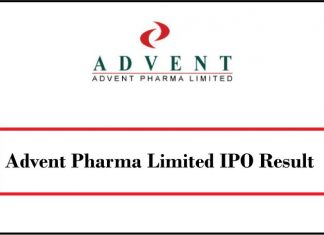 Advent Pharma Limited IPO Result