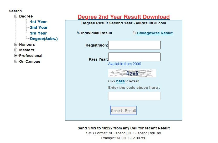 Degree 2nd Year Result