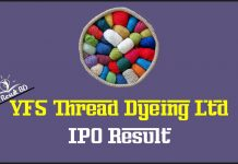 VFS Thread Dyeing Ltd IPO Result