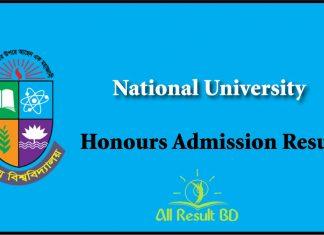 NU Honours Admission Result