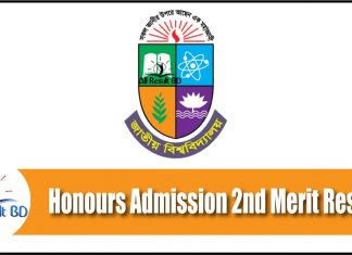 NU Honours Admission 2nd Merit Result