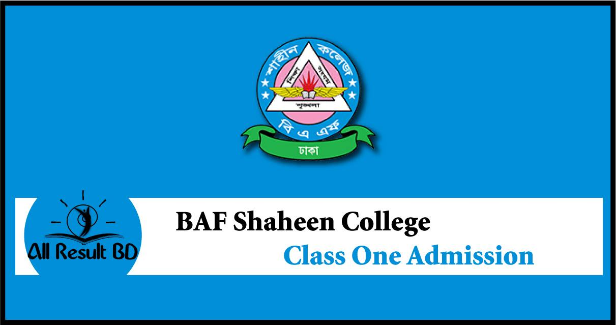 BAF Shaheen College Class One Admission