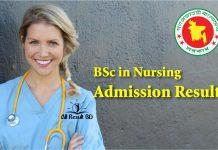 BSc in Nursing Admission Result