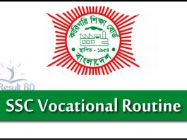 SSC Vocational Routine 2021