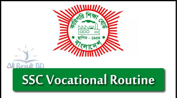 SSC Vocational Routine 2020