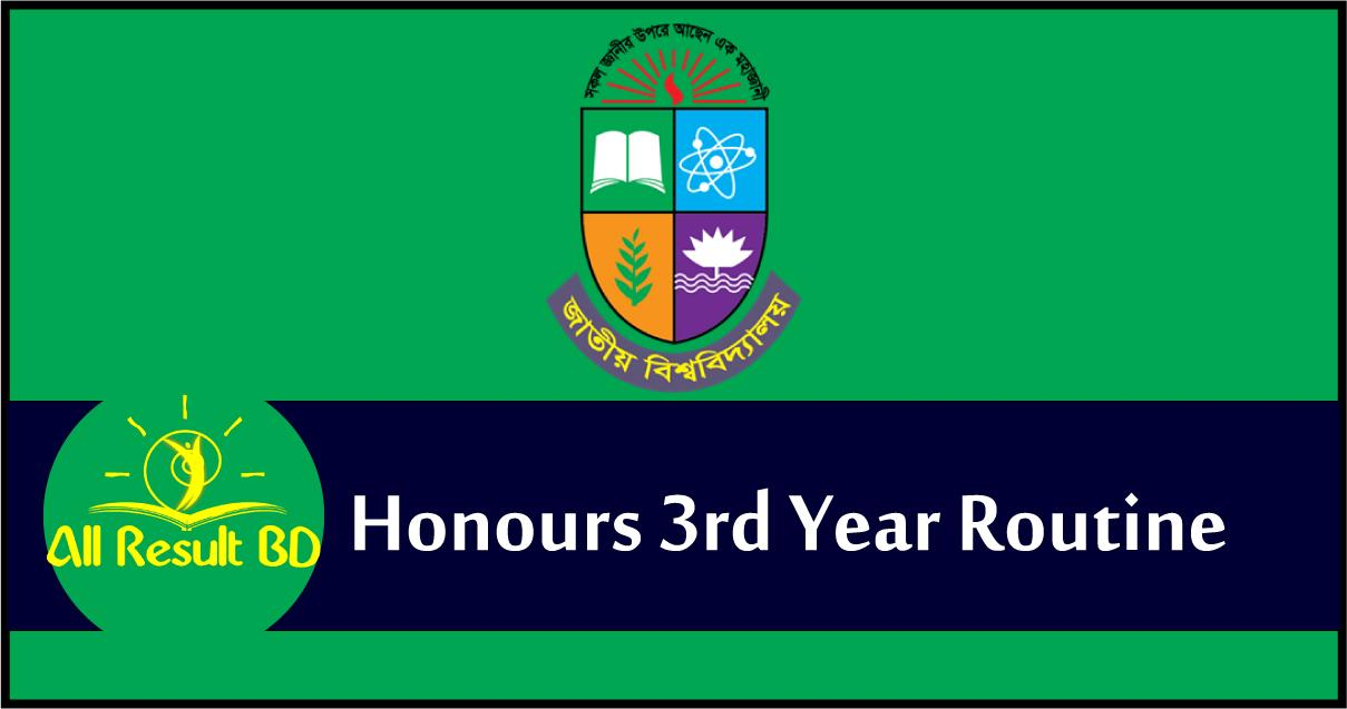 Honours 3rd Year Routine