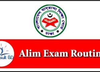 Alim Exam Routine