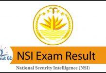 NSI Exam Result