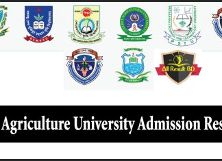 Agriculture University Admission Result