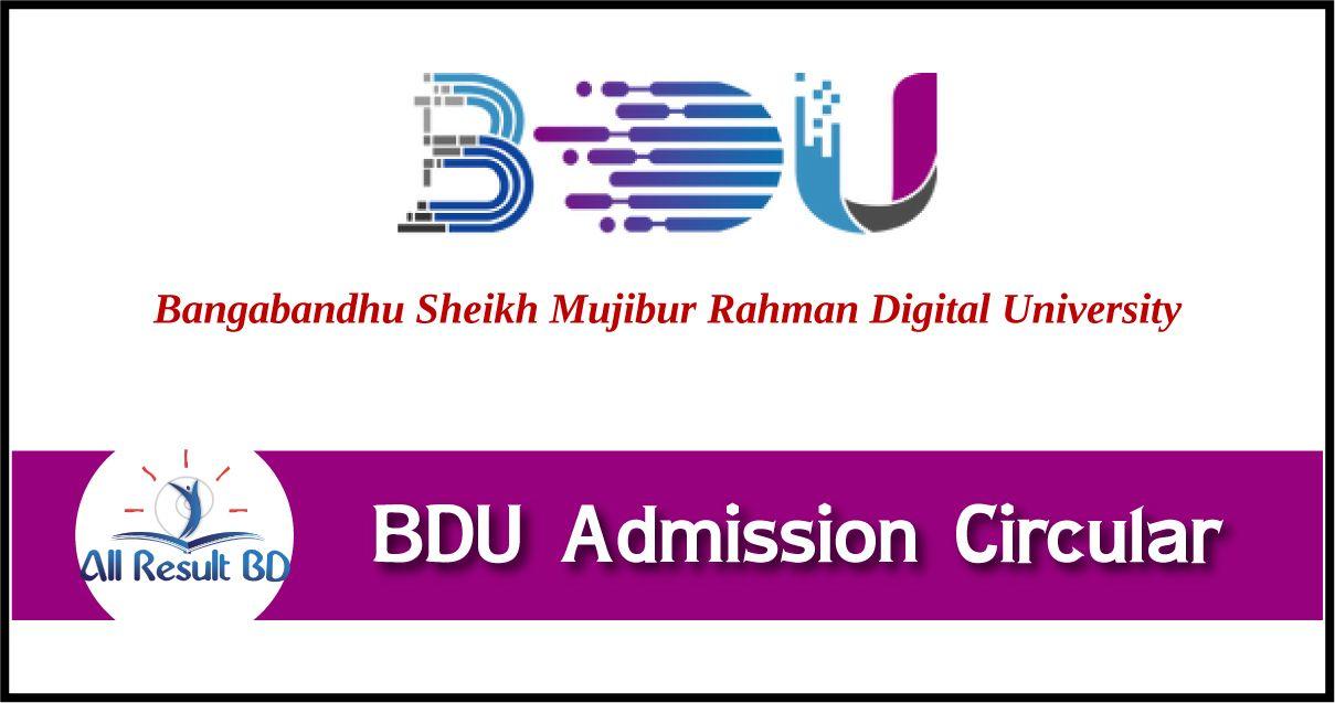 BDU Admission Circular