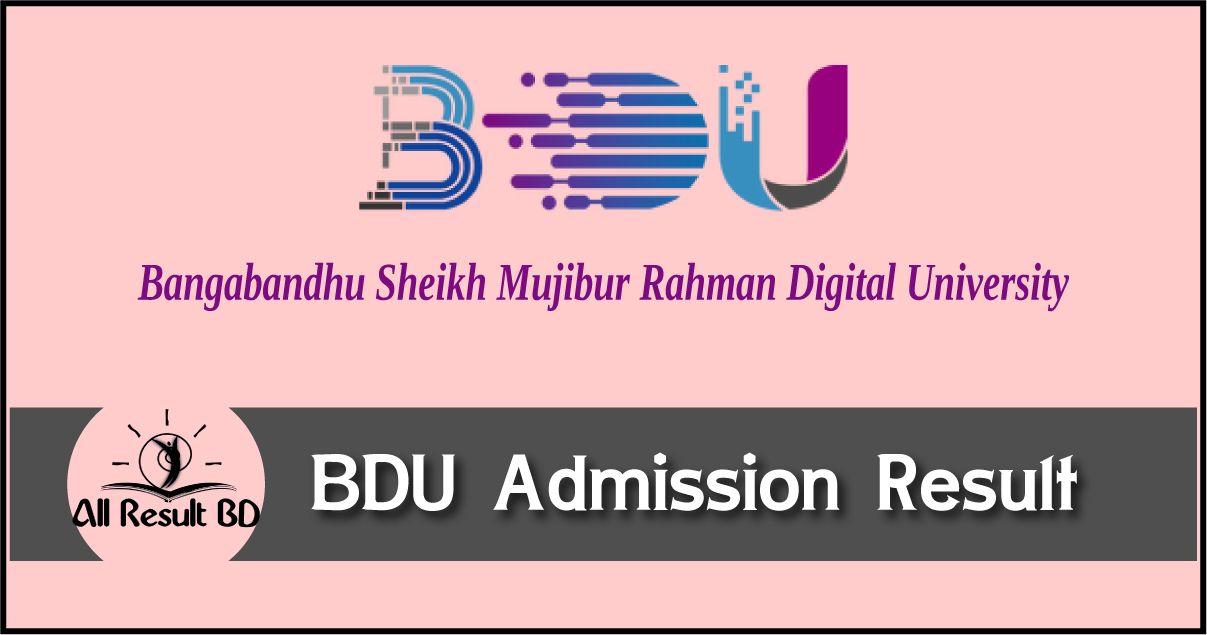 BDU Admission Result
