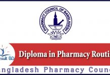 Diploma in Pharmacy Routine