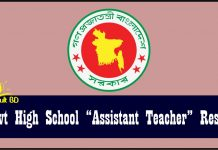 Govt High School Assistant Teacher Result