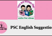 PSC English Suggestion 2019