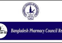 Bangladesh Pharmacy Council Result